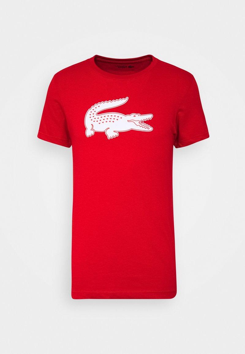Lacoste - T-shirt imprimé - rouge/blanc