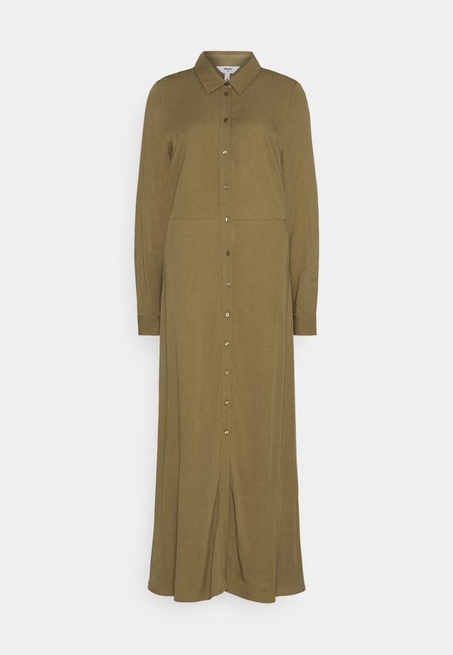 OBJBAYA LONG DRESS - Maxiklänning - burnt olive