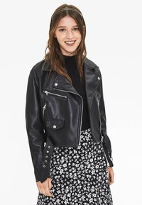 Bershka - Faux leather jacket - black - 0