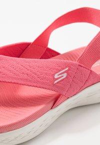 Skechers Performance - ON-THE-GO 600 - Sandalias de dedo - pink - 5