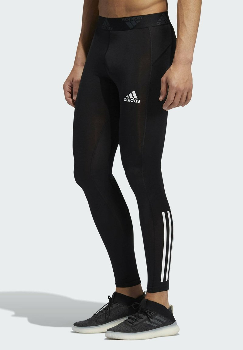 adidas Performance - TECHFIT 3-STRIPES LONG TIGHTS - Leggings - black