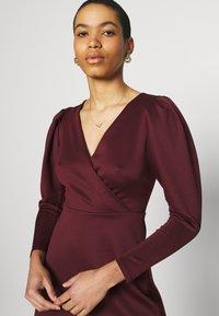 Closet - LONG SLEEVE SKATER DRESS - Jersey dress - burgundy - 3