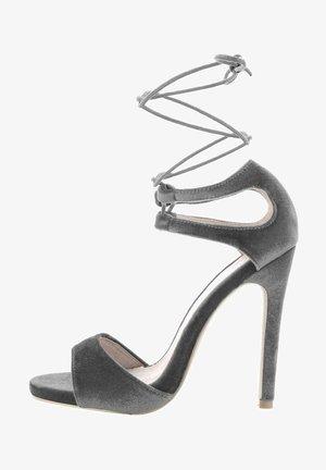 KAGGI - High heeled sandals - grey