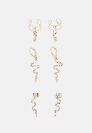 PCCHANA EARRINGS 3 PACK - Øredobber - gold-coloured/clear