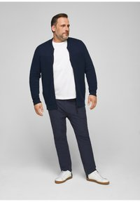 s.Oliver - Trousers - dark blue check - 1