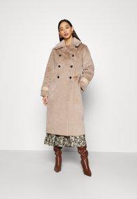 Topshop - REVERSIBLE COAT - Classic coat - mink - 1