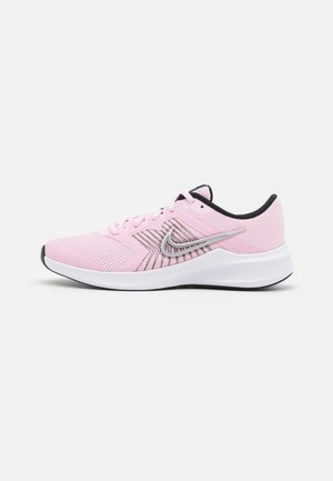 DOWNSHIFTER 11 UNISEX - Neutral running shoes - pink foam/metallic silver/black/white
