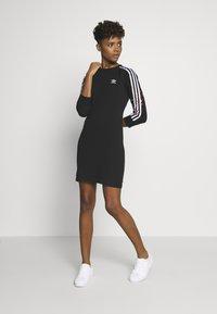adidas Originals - 3STRIPES 3/4 SLEEVE DRESS - Vestido ligero - black - 1