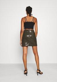 Molly Bracken - LADIES SKIRT - Mini skirt - khaki - 2