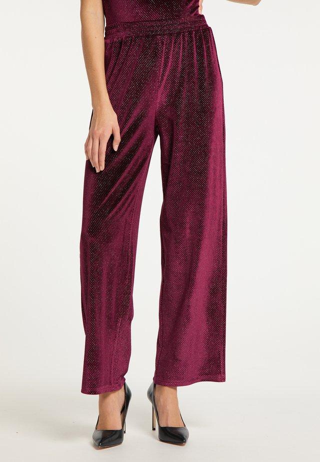 Pantalones - bordeaux