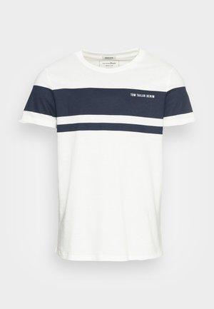 Print T-shirt - soft light beige