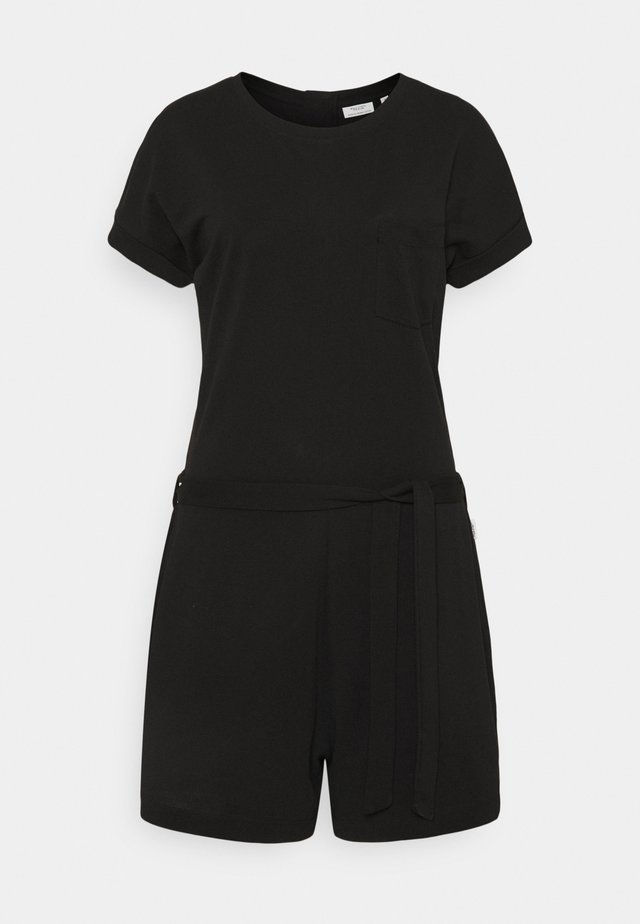 OVERALL SHORT ROUNDNECK SHORTSLEEVE - Jumpsuit - black