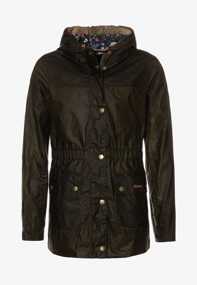 GIRLS HAMLET - Waterproof jacket - archive olive