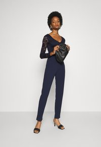 Anna Field - OCCASION - LONG SLEEVES LACE TOP JUMPSUIT - Combinaison - maritime blue - 1