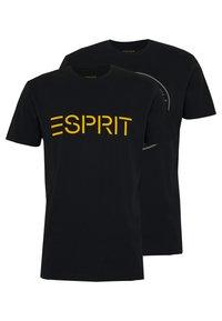 Esprit - 2 PACK - Print T-shirt - black - 0