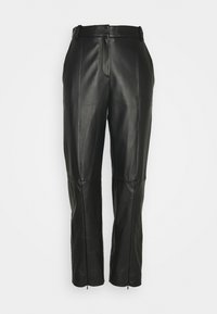 MM6 Maison Margiela - Leather trousers - black - 0