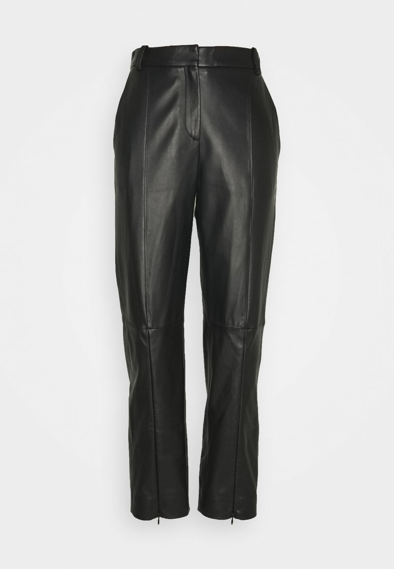 MM6 Maison Margiela - Leather trousers - black