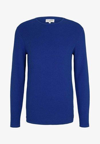ZIGZAG STRUCTURED CREWNECK - Jumper - royal blue
