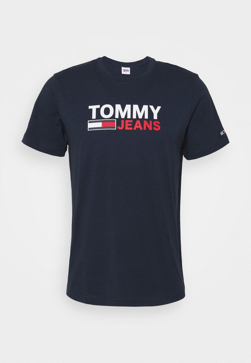 Tommy Jeans - CORP LOGO TEE - T-shirt print - blue