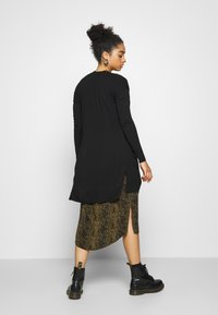 Even&Odd - BASIC- long cardigan - Cardigan - black - 2