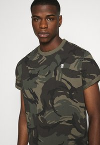 G-Star - LASH R T S\S - T-shirt med print - combat dutch camo - 4