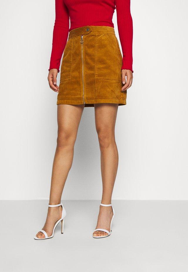 KIRA LIFE - Pencil skirt - golden brown