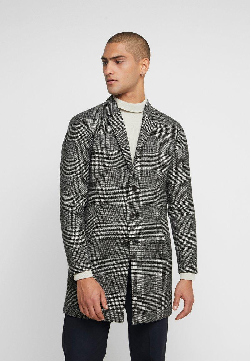 Jack & Jones PREMIUM - JPRMOULDER CHECK COAT - Classic coat - grey melange