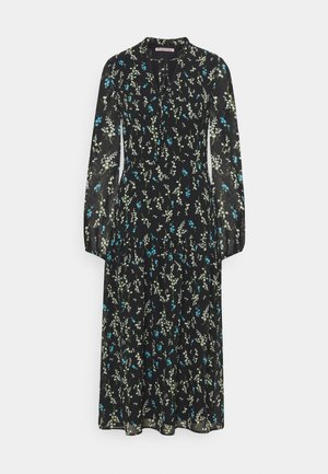 VOLANT MAXI DRESS PRINTED - Kjole - black/blue