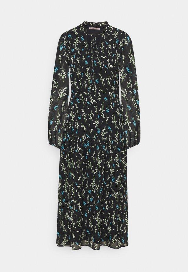 VOLANT MAXI DRESS PRINTED - Day dress - black/blue