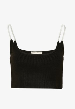 CHAIN SHOULDER - Toppe - black
