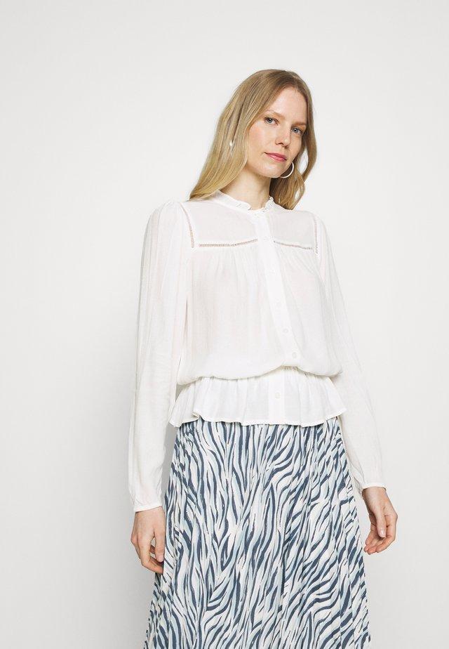 FRILL NECK PEPLUM - Skjortebluser - ivory
