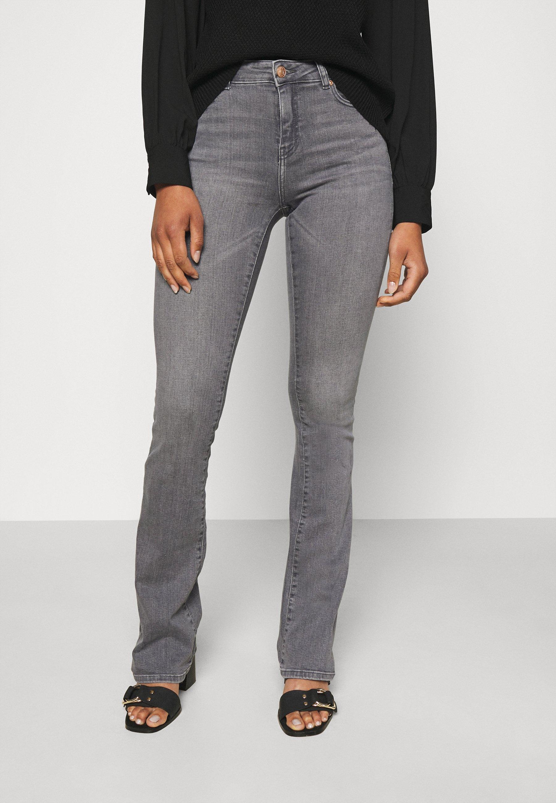 Femme ONLHUSH LIFE MID FLARED - Jeans Skinny