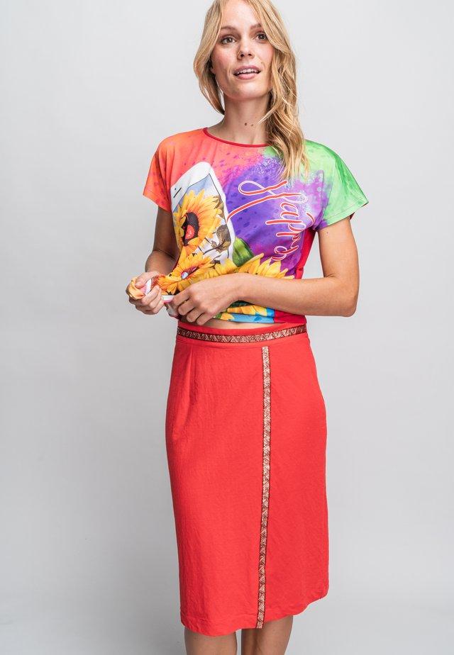 A-line skirt - rojo