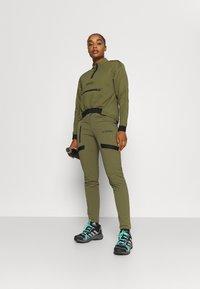 adidas Performance - TERREX UTILITAS HALF ZIP - Long sleeved top - focus olive - 1