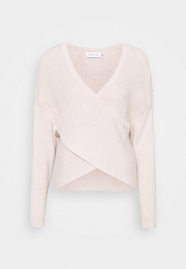 KNIT PULLOVER - Pullover - pastel parchment