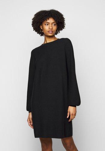 MARISA - Stickad klänning - black
