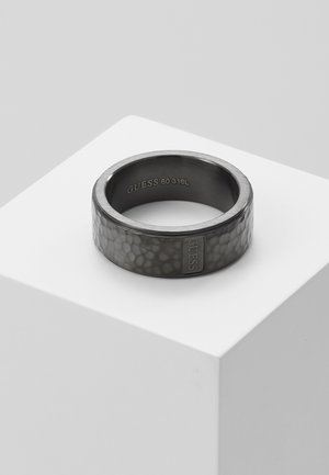 HAMMERED BAND RING  - Ringe - gunmetal