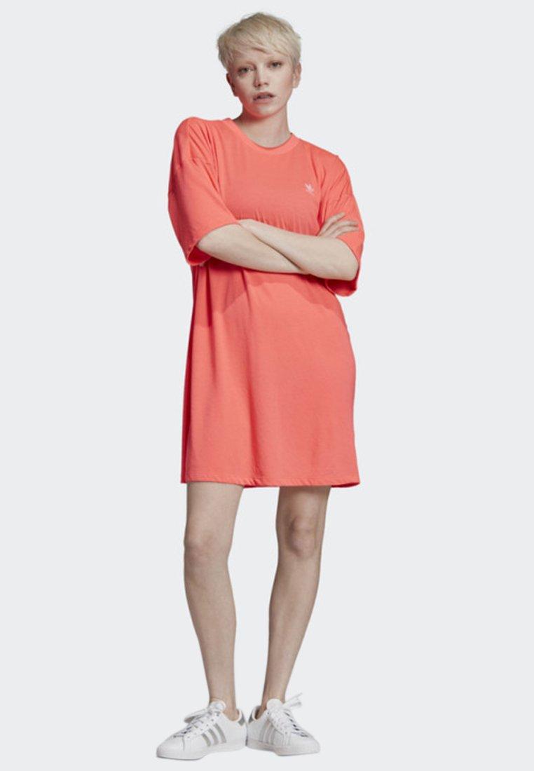 adidas Originals - TREFOIL DRESS - Jersey dress - orange