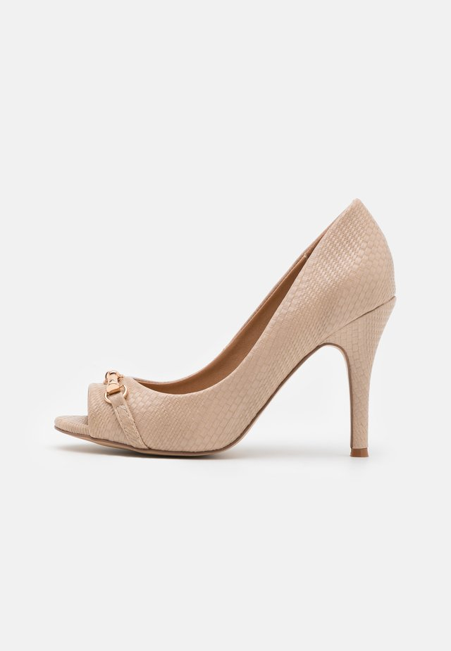 CRAVE - Peeptoe heels - neutral