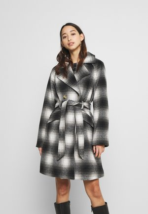 PCSIENA COAT - Cappotto corto - grey/brown