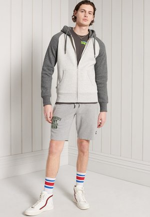 Zip-up hoodie - light grey marl