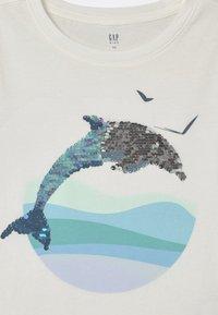 GAP - GIRL FLIPPY - Print T-shirt - new off white - 2