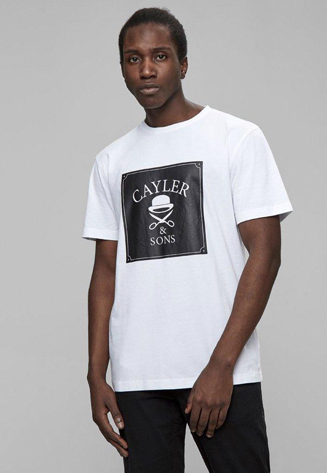 T-shirt imprimé - wht/blk