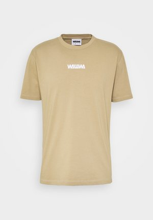 UNISEX SQUARE LOGO  - Long sleeved top - beige