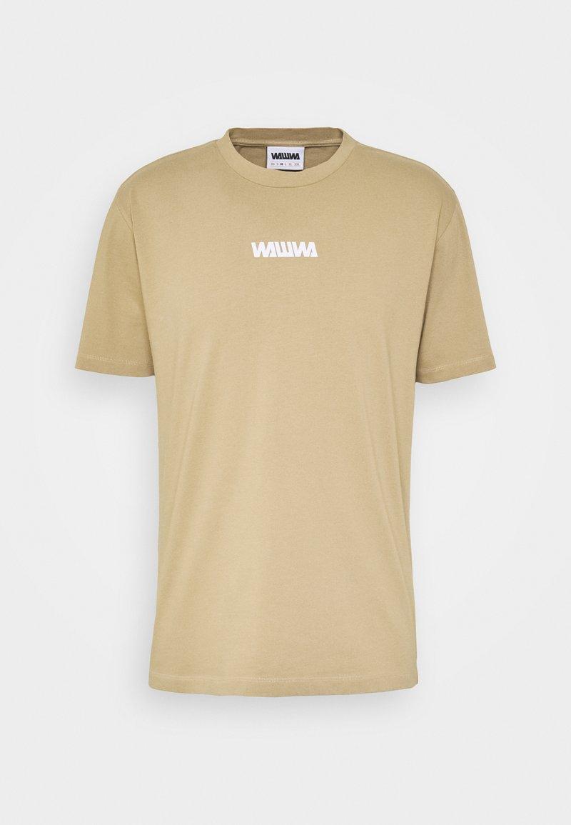 WAWWA - UNISEX SQUARE LOGO  - Bluzka z długim rękawem - beige