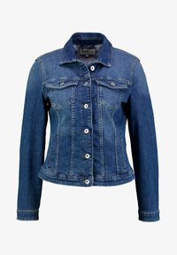 AUTHENTIC - Denim jacket - used dark stone blue denim