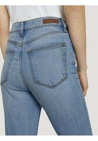 TOM TAILOR DENIM - Straight leg jeans - used mid stone blue denim - 4
