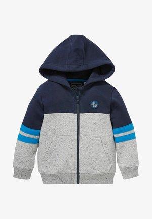 Zip-up sweatshirt - dark blue / gray