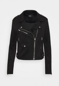 ONLY - ONLSHERRY BIKER - Veste en similicuir - black - 4