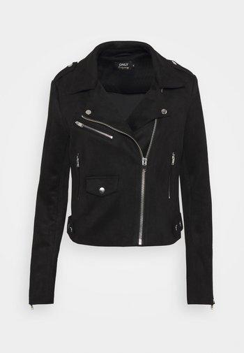 ONLSHERRY BIKER - Faux leather jacket - black